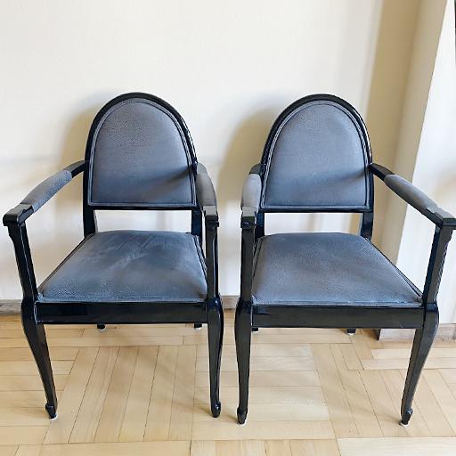 Art Deco Armlehnstühle / 4 Stück